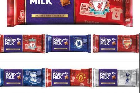 New Cadbury Dairy Milk Limited Edition Football Club Bars
