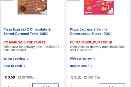 New Pizza Express Meal Deal Offer at Tesco