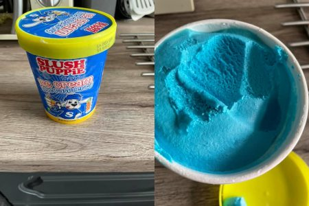 New Slush Puppies Blue Raspberry Ice Cream Available at Iceland